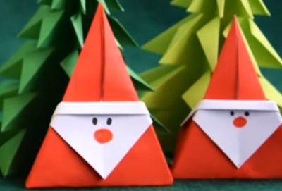 クリスマスツリーの飾りを折り紙で手作り制作!簡単な立体の星や